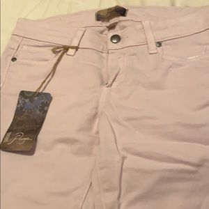 Dusty Pink Skinny PAIGE Jeans